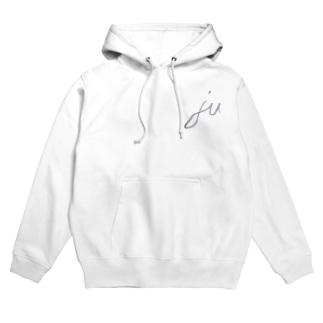「ju」 pullover hoodie (バックプリント無し) Hoodies