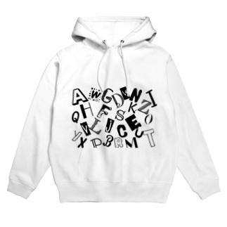 アルファベット(A~Z) Hoodies