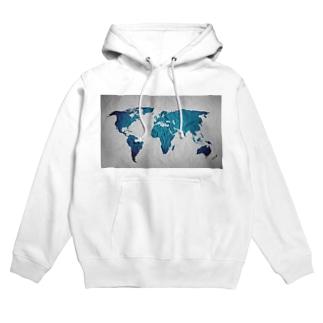氷と水の世界地図 Hoodies