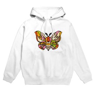 Full of vitality (フル オブ バイタリティ)のBeautiful moth (綺麗な蛾) Full of vitality (フル オブ バイタリティ) Hoodies