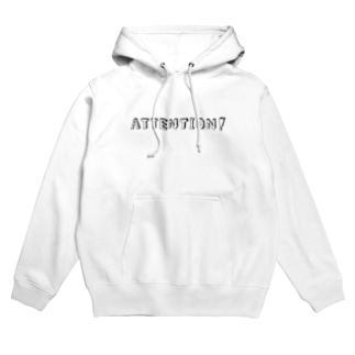 ATTENTION! ロゴパーカー(黒字)【ATTENTION!】 Hoodies