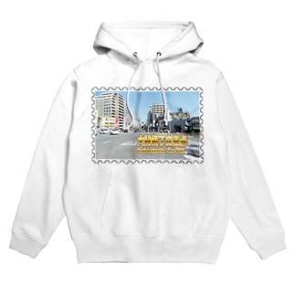 東京都:大関横丁交差点★白地の製品だけご利用ください!! Tokyo: Ozekiyokocho Crossroad/ Taito-ku★Recommend for white base products only !! Hoodies