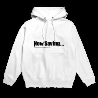 Studio OriginのNow Saving_white Hoodies