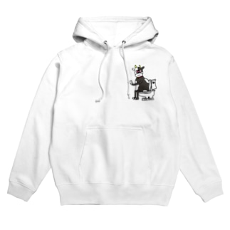 TOILET COW ② Hoodies