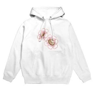 Liangの小花 Hoodies