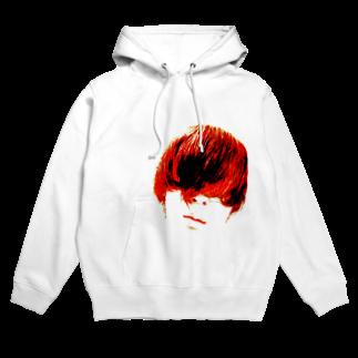 RyoY_ArtWorks_Galleryの赤髪の青年 Hoodies