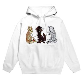 WOLF TEA Hoodies