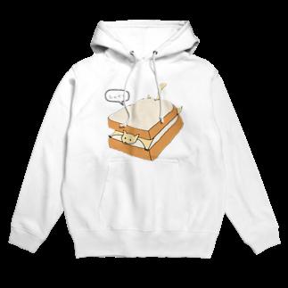 カニのパンに挟まるムササビ(トースト) Hoodies