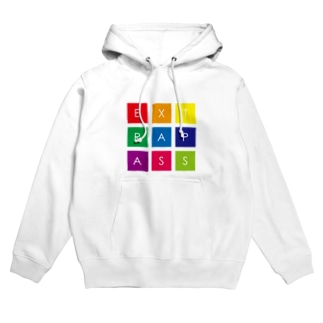 COLORFUL SQUARE LOGO Hoodies