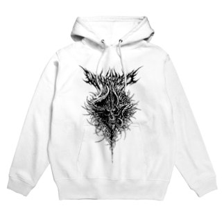 SKULL(WHITE) Hoodies