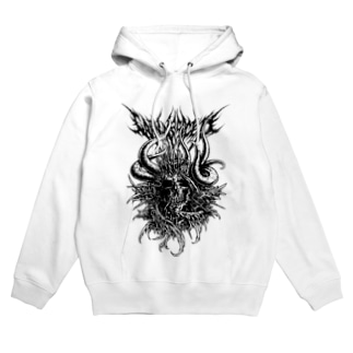 SKULL2(WHITE) Hoodies