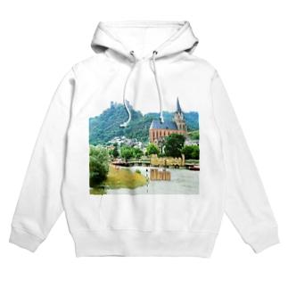 ドイツ:オーバーヴェセル Germany: Oberwesel / Rhein Hoodies