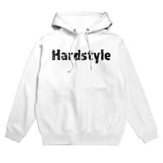 Hardstyleロゴパーカー黒文字 Hoodies