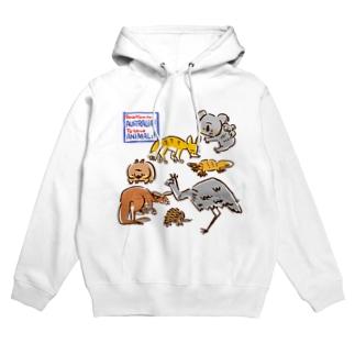 オーストラリアアニマル(500円募金) Hoodies