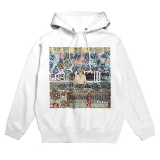 CG絵画:土産物店 CG art: Souvenier shop Hoodies