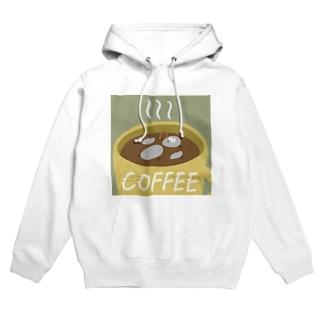 コーヒーとハトくん Hoodies