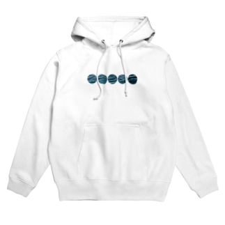 Surface Hoodie (Dotted Line)/White Hoodies
