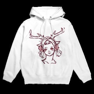 ℃星の鹿の女の子。 Hoodies