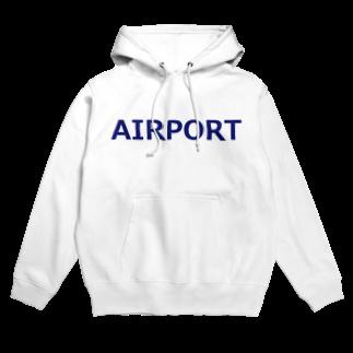 アメリカンベースのエアライングッズ AIRPORT Hoodies