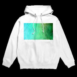 古春一生(Koharu Issey)のメロンソーダの海。(青緑) Hoodies