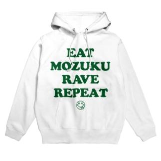 EAT MOZUKU RAVE REPEAT Hoodies