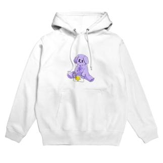 絵を描く紫の毛玉 Hoodies