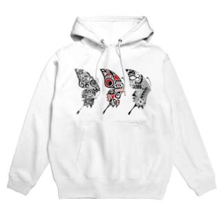 3 Butterfly Hoodies
