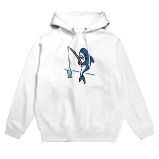 釣りをするサメ Hoodies