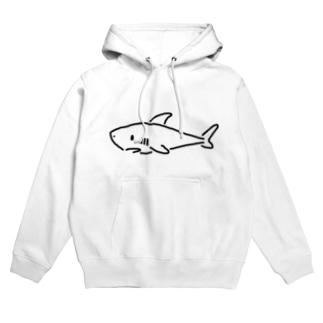 わりと単純なサメ 薄色用 Hoodies