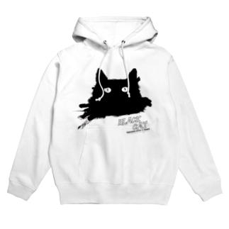 キャッティ(オフィシャル)ネコ好き集まれ!!のBLACK CATシリーズ(ネコ/猫) Hoodies