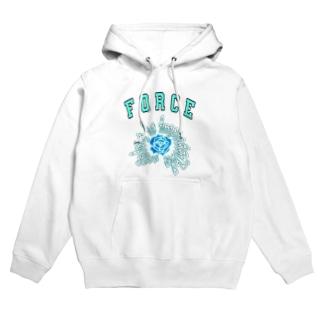 Blue rose Hoodies
