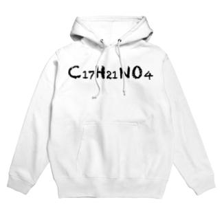 C17H21NO4(コカイン化学式)黒 Hoodies