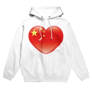 Chinese_heart_flag Hoodies