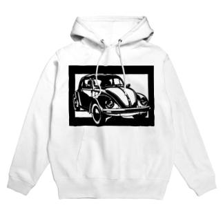 Volkswagen ビートル切り絵デザイン Hoodies