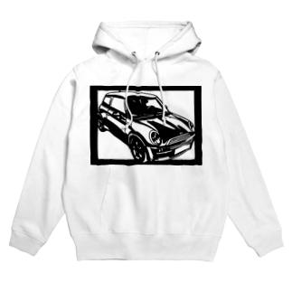 BMW mini切り絵デザイン Hoodies