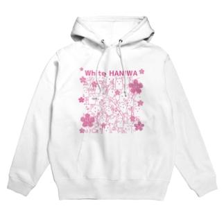 白いハニワ【花】 Hoodies