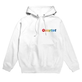Quartet be ture Logo Hoodies