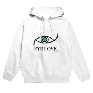 EYE LOVE Hoodies