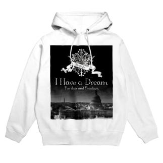 人気のモノトーンファッション 「I Have a Dream」 Hoodies