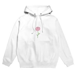 Pink Rose Hoodies