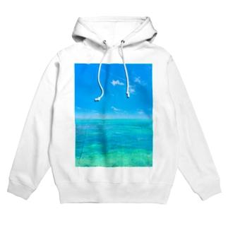 mizuphoto.comの海と飛行機雲 Hoodies