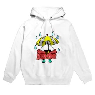 雨の日おにぎり Hoodies