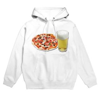 ピザとビール Hoodies