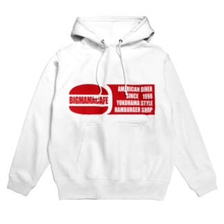 Bigmamacafe レッドロゴ Hoodies