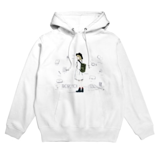 「travel ;)」_white Hoodies