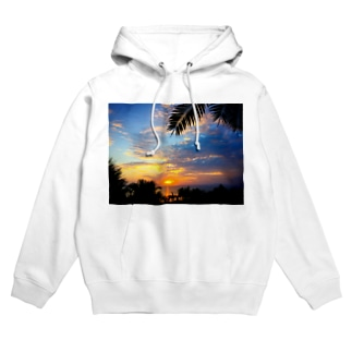 sunset beach Hoodies