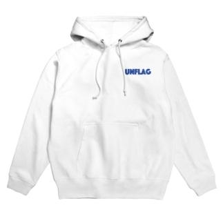 UNFLAGホワイトパーカー Hoodies