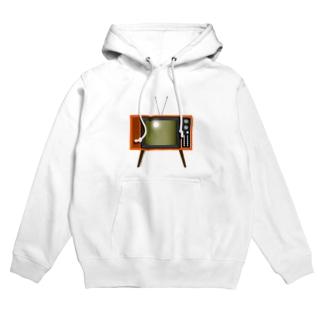 illust_designs_labのレトロな昭和の可愛いテレビのイラスト 脚付き  Hoodies