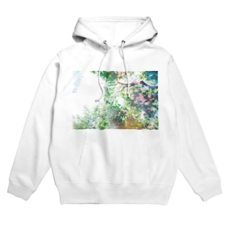 à feuille persistant (常緑) Hoodies