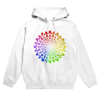 ひろがる虹のしずく Hoodies